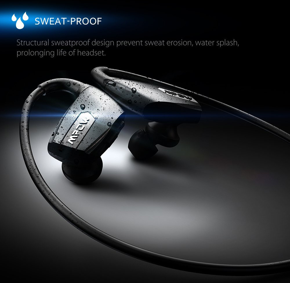 MPOW MBH30 Antelope Bluetooth 4.1 Wireless Sweatproof Stereo Sports Earbuds Secure Fit Durable for Running Gym Exercise