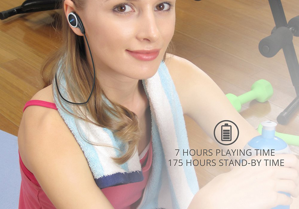 MPOW QY8 Pro Vtin Swan Bluetooth 4.1 Stereo Sports In-ear Earbuds with Mic APT-X One Key Operation