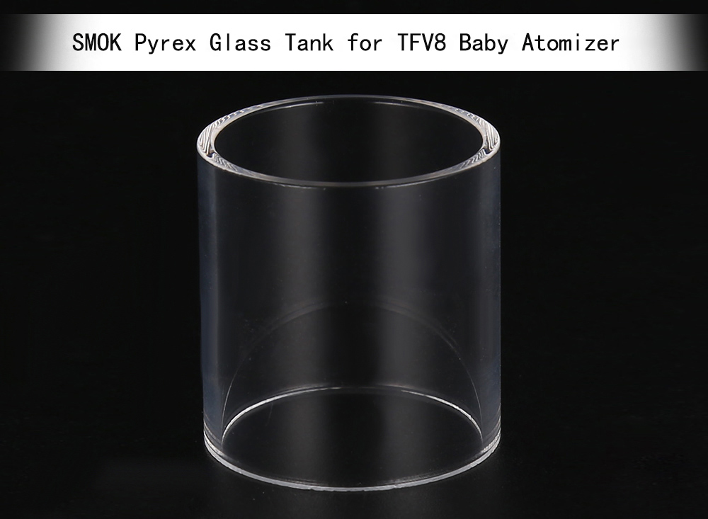 Original SMOK Pyrex 22mm Diameter Replacement Tank for TFV8 Baby Atomizer ( 3pcs / Pack )