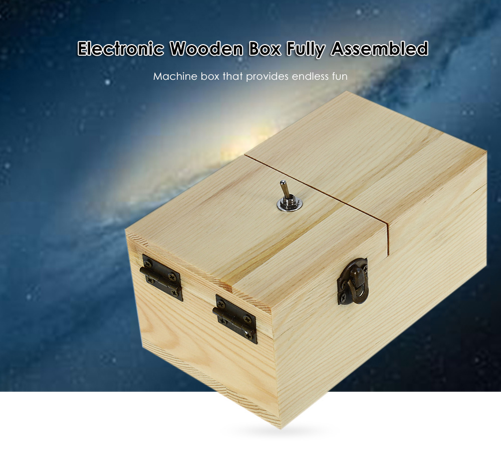 Wooden Box Electronic Machine Fully Assembled Toy for Kid