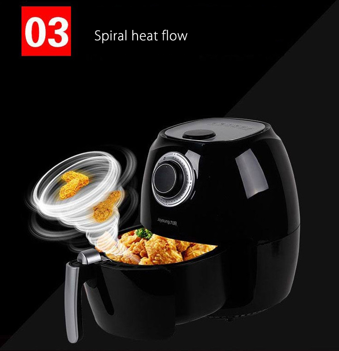 Joyoung KL - J3 2.5L Low Noise Electric Air Fryer with Ergonomic Handle