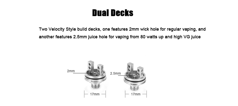 Original Augvape Boreas RTA with 8ml / Two Decks with Different-sized Juice Hole / Top Filling System / Juice Flow Control for E Cigarette