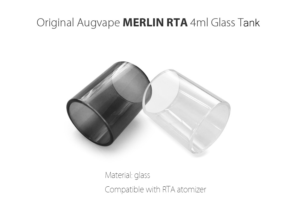 Original Augvape MERLIN RTA 4ml Tank / E Cigarette Accessory