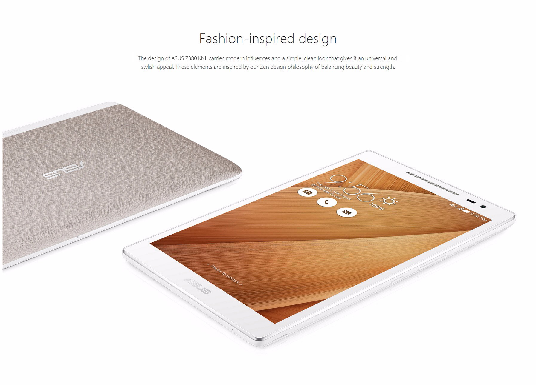 ASUS Z380 KNL Fashion Version 4G Phone Tablet PC 8.0 inch Android 6.0 IPS OGS Screen Qualcomm MSM8929 Octa Core 1.0GHz 2GB RAM 16GB ROM Ambient Light Sensor