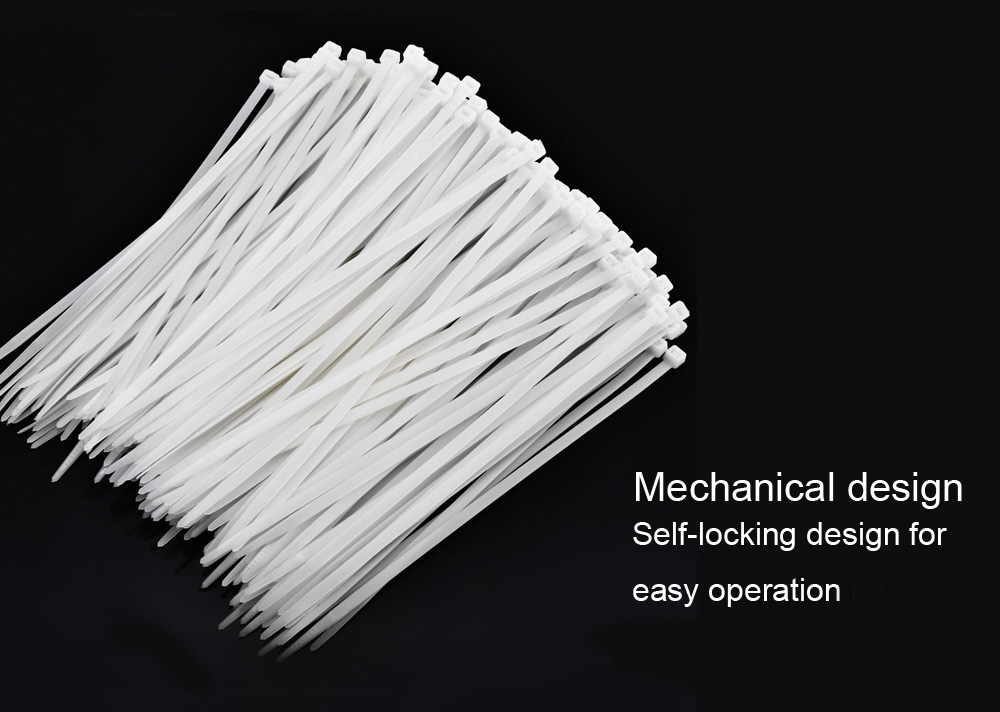 ELECALL ELE - 8 x 250 250PCS Self Lock Nylon Cable Tie Heavy Duty for Household / Construction Industry / Electronic Industry