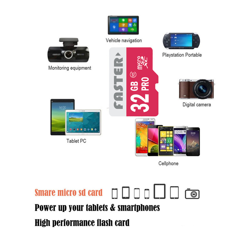 3 in 1 64GB Micro SD Memory Card Class 10 with Adapter / Card Reader
