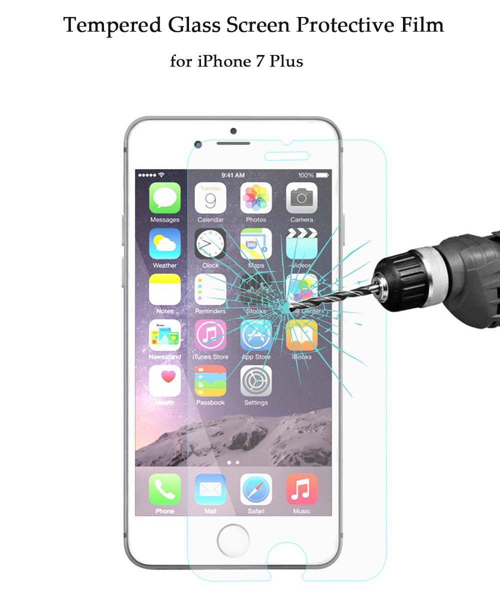 Hat - Prince Tempered Glass Screen Protective Film for iPhone 7 Plus 0.26mm 2.5D 9H Explosion-proof Membrane