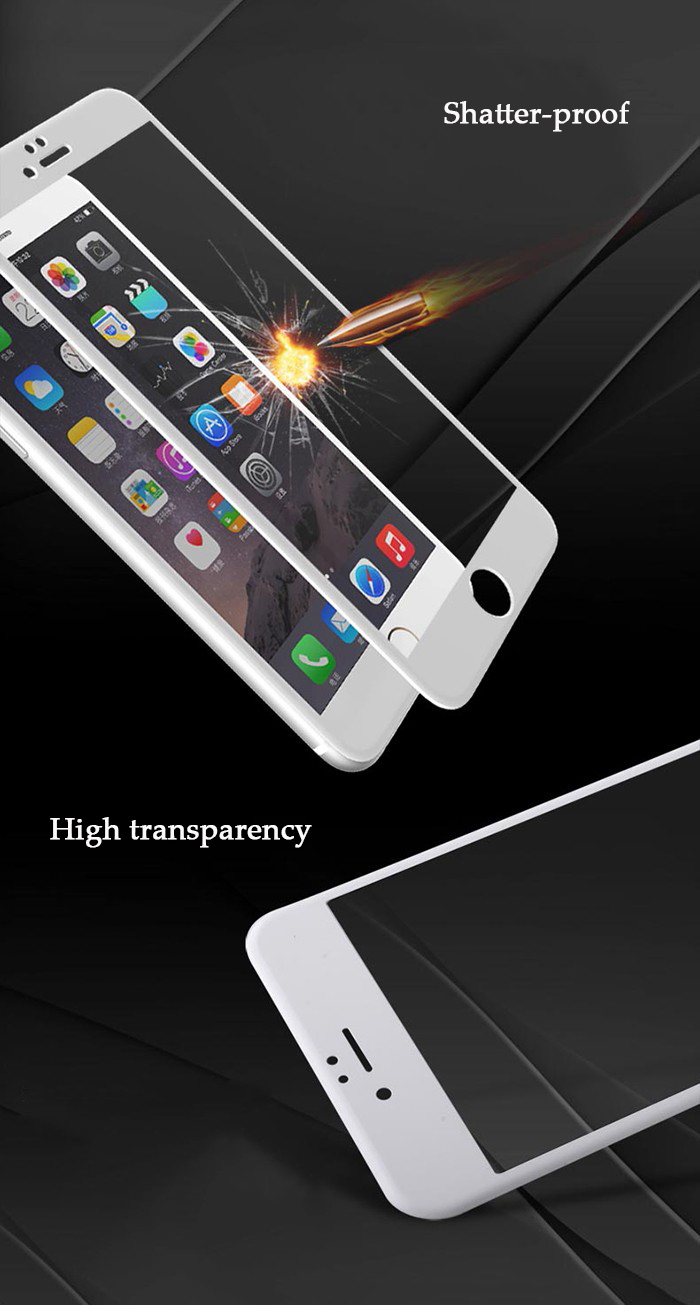 Luanke Tempered Glass Screen Protective Film for iPhone 7 0.26mm 9H Explosion-proof Carbon Fiber Soft Edge Membrane