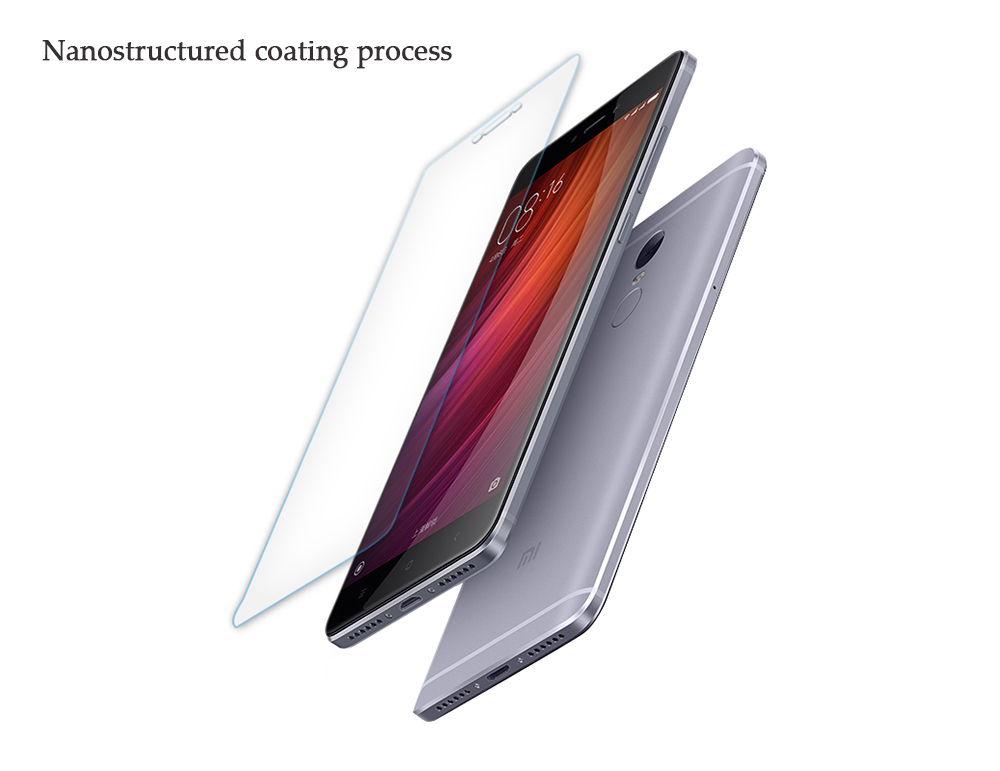 Luanke Tempered Glass Screen Protective Film for Xiaomi Redmi Note 4 0.3mm 2.5D 9H Explosion-proof Membrane