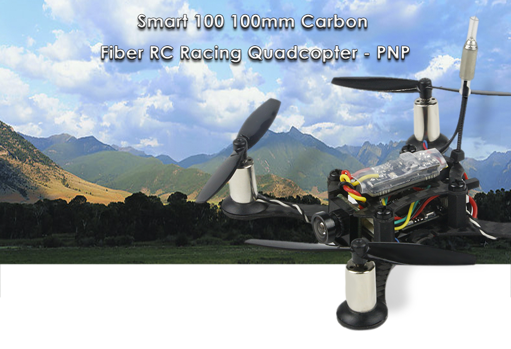 Smart 100 100mm 5.8G 16CH FPV 600TVL Camera Brushed RC Racing Drone - PNP