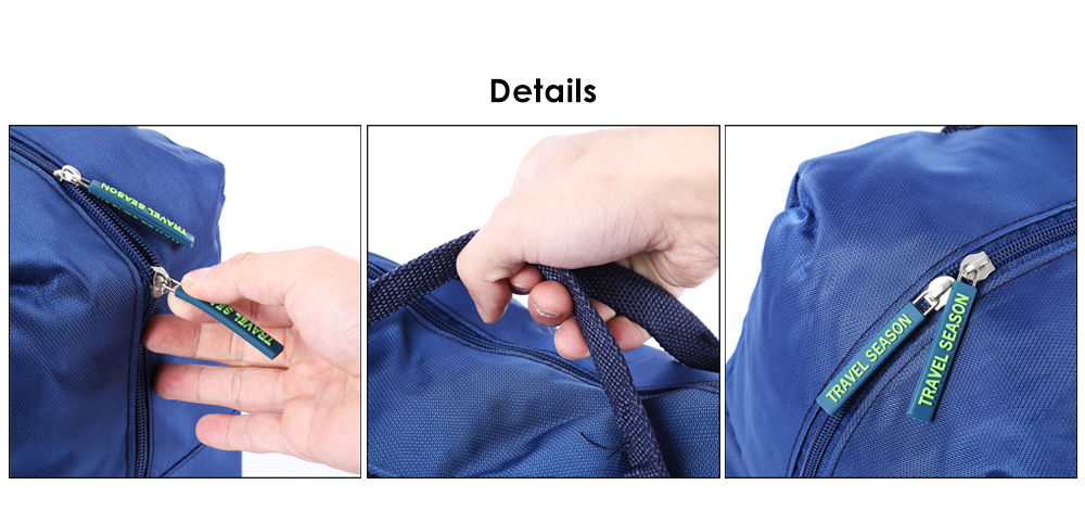 Water-resistant Nylon 30L Travel Storage Bag for Draw-bar Suitcase
