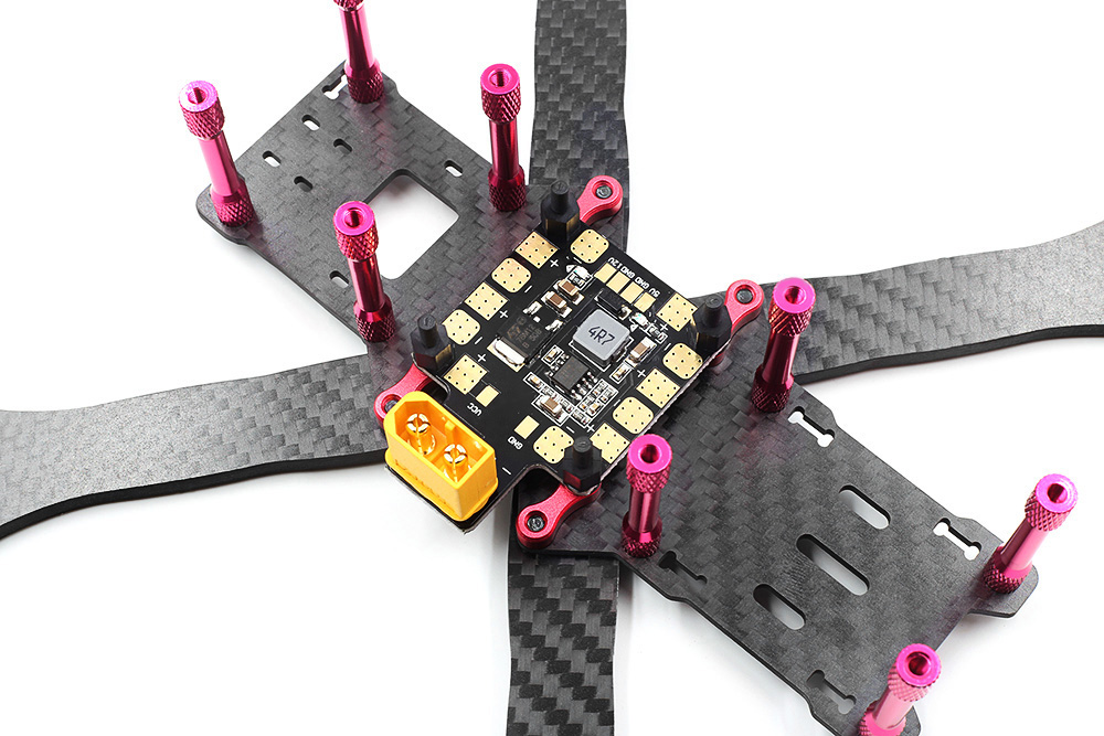 GEPRC GEP - VX6 F250 250mm DIY Carbon Fiber Frame Kit with PDB BEC XT60 Plug for RC Racing Multicopters