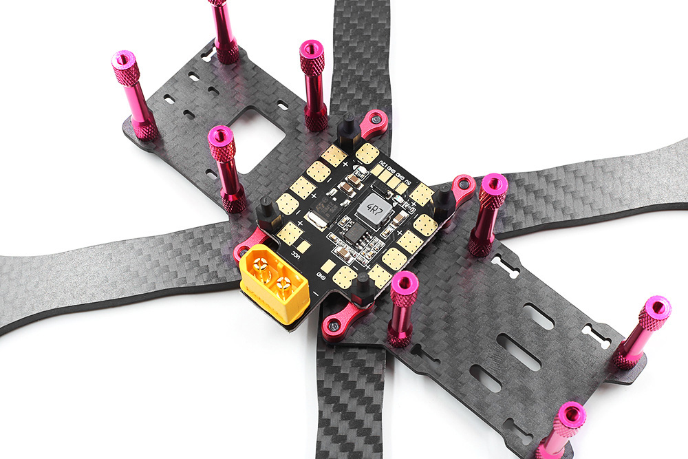 GEPRC GEP - VX4 F180 180mm DIY Carbon Fiber Frame Kit with PDB BEC XT60 Plug for RC Racing Multicopters