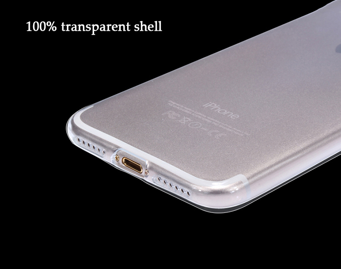 Luanke Transparent TPU Soft Protective Phone Back Case for iPhone 7 Plus Ultra-thin Mobile Shell