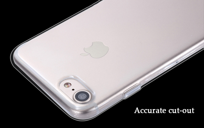 Luanke Transparent TPU Soft Protective Phone Back Case for iPhone 7 Ultra-thin Mobile Shell
