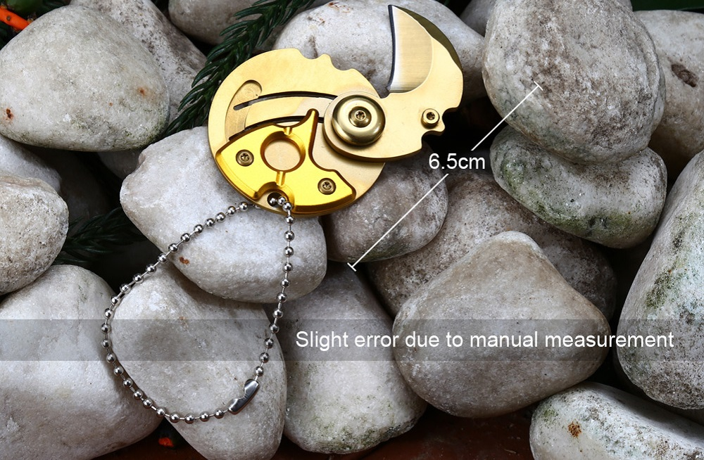 Mini 5Cr13Mov Stainless Steel Foldable Coin Claw Knife