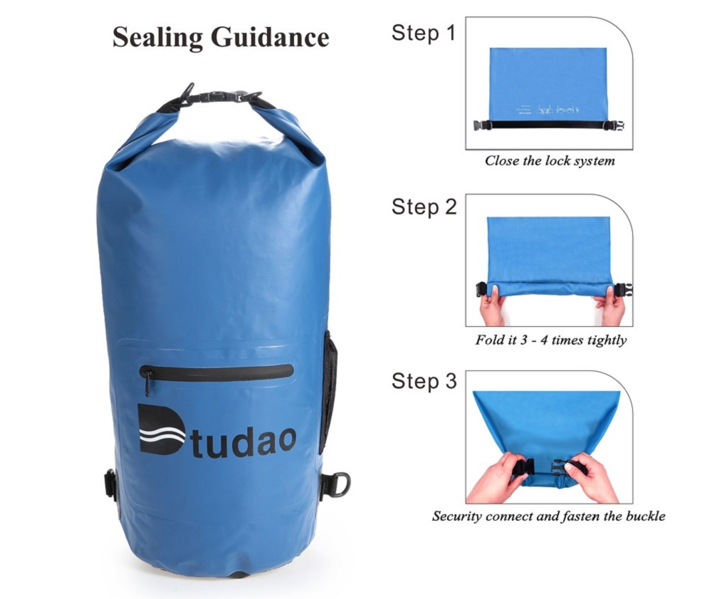 Dtudao 10L PVC Tarpaulin Waterproof Dry Bag with Strap