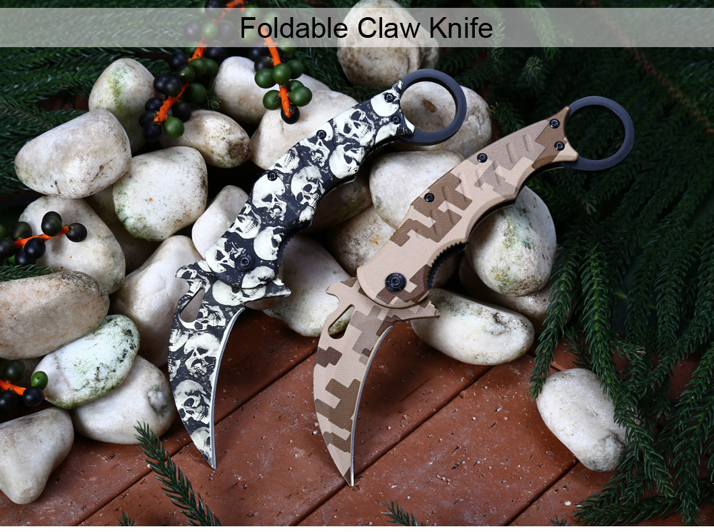 Portable 3Cr13Mov Stainless Steel Liner Lock Foldable Claw Knife