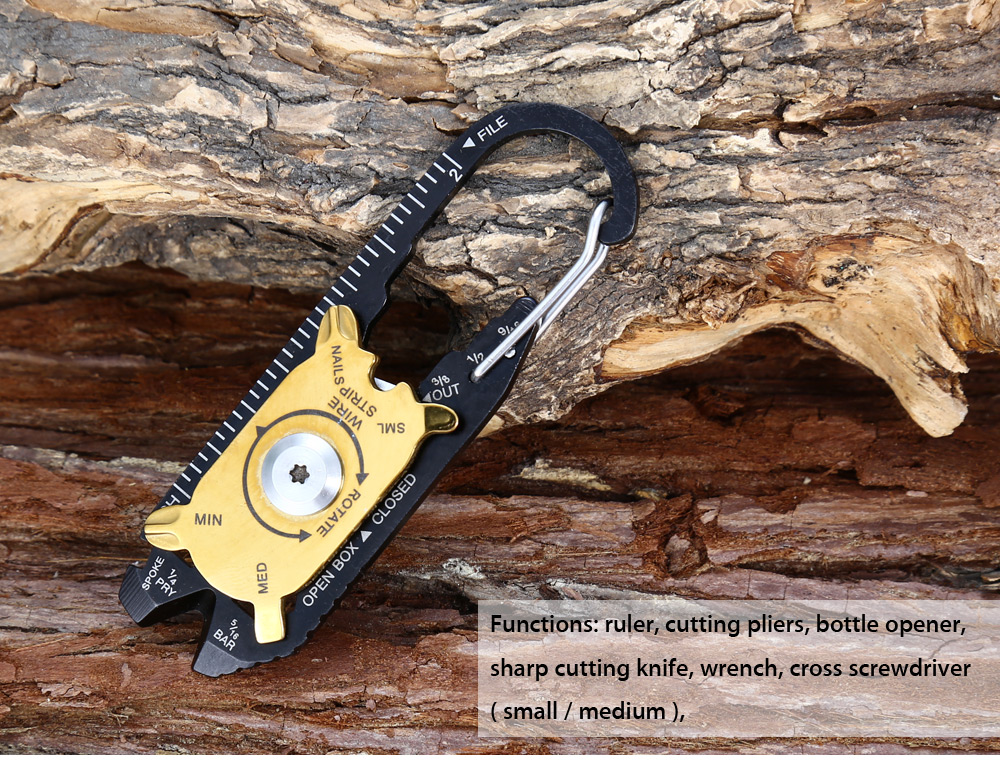 TRUEUTILITY Multifunctional Keychain Tools for Outdoor