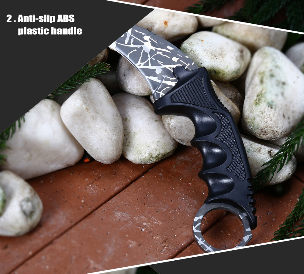 CIMA Z6 440C Stainless Steel Fixed Blade Claw Knife