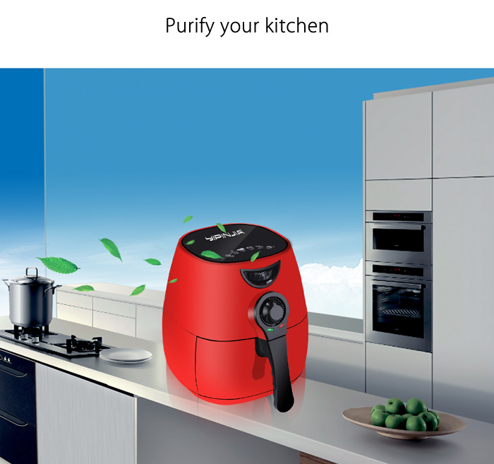 yIPINJIA LYA1 2.5L Electric Air Fryer with Ergonomic Handle