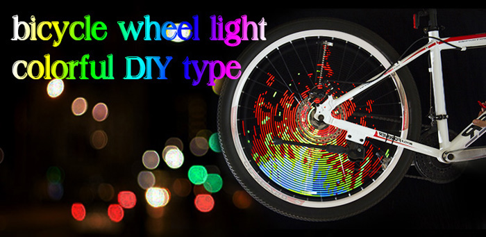 YQ8003 DIY Programmable Bicycle Spoke Bike Wheel LED Light Double Sided Screen Display Image for Night Cycling