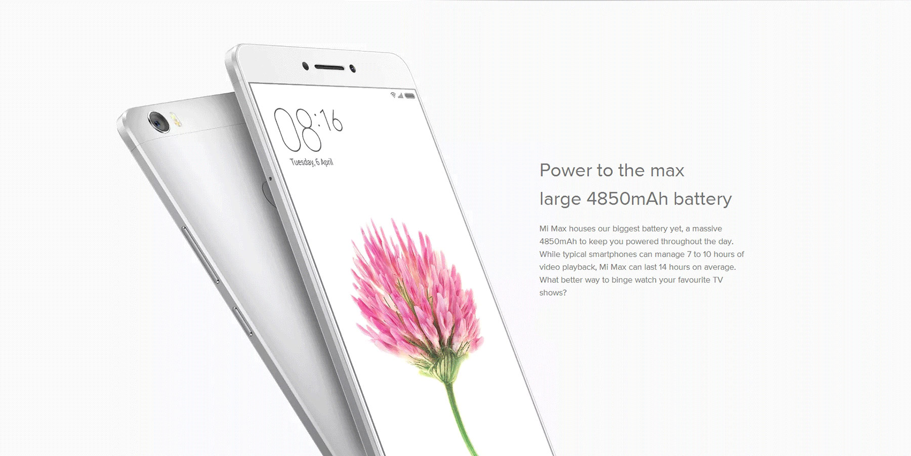 Xiaomi Mi Max 6.44 inch 4G Phablet Android 6.0 Qualcomm Snapdragon 650 64bit Hexa Core 1.8GHz 3GB RAM 32GB ROM 16.0MP Camera 4850mAh 2.5D Arc Glass Screen