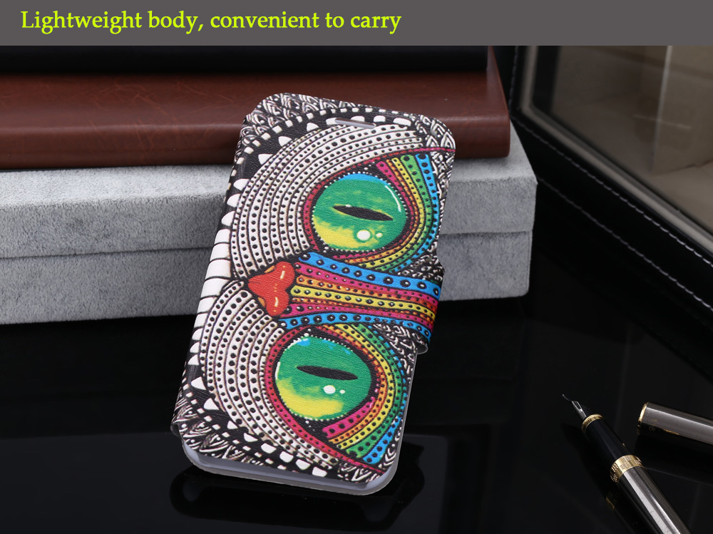 Colored Drawing PU Leather Full Body Protective Phone Case for iPhone 7 Lightweight Mobile Shell with Card Holder