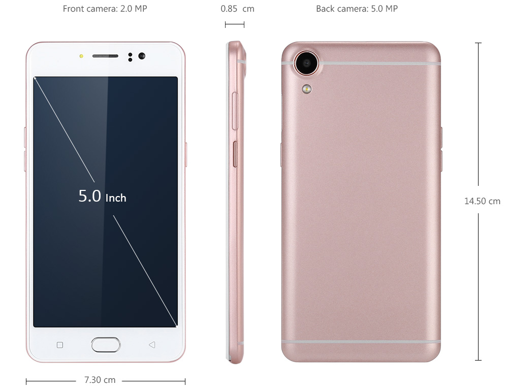 R9 Android 5.1 5.0 inch 3G Smartphone MTK6580 Quad Core 1.3GHz 1GB RAM 8GB ROM Gravity Sensor Beauty Camera