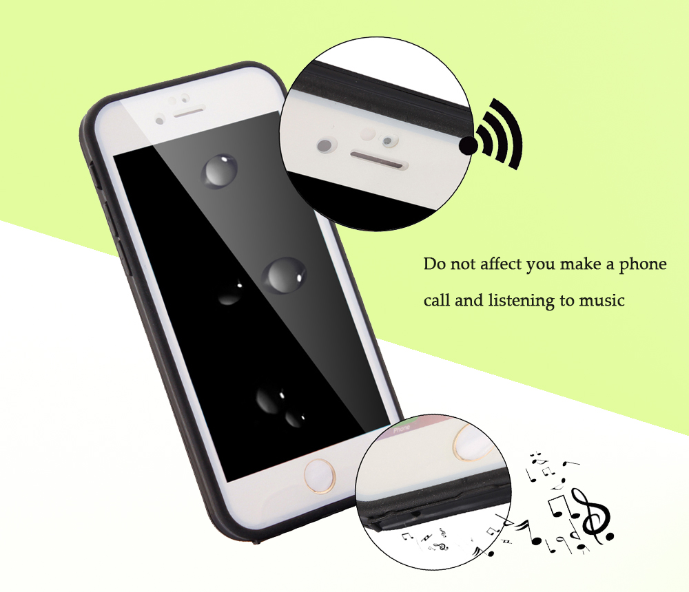 Ultra-thin Sillicone Water Resistant Phone Cover Case for iPhone 6 / 6S Full body Protective Shell
