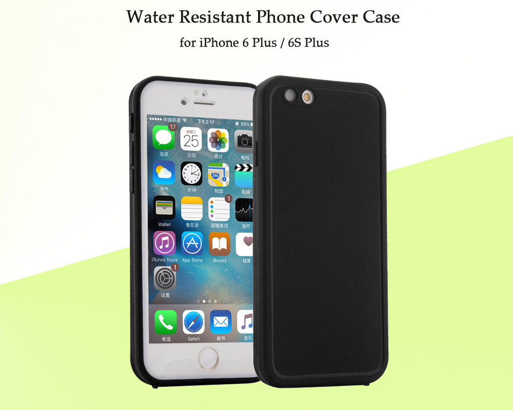 Ultra-thin Sillicone Water Resistant Phone Cover Case for iPhone 6 Plus / 6S Plus Full body Protective Shell