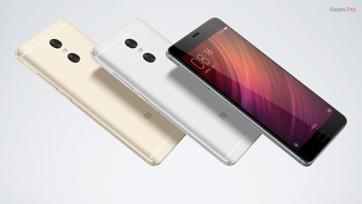 Xiaomi Redmi Pro International Edition MIUI 8 5.5 inch 2.5D Arc Screen 4G Phablet Helio X25 Deca Core 1.55GHz 3GB RAM 64GB ROM Fingerprint Scanner Bluetooth 4.2 13.0MP Dual Rear Cameras