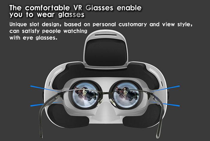 Ritech VR MAX Virtual Reality 3D Glasses for 4.0 - 6.0 inch Smartphone 96 Degree FOV