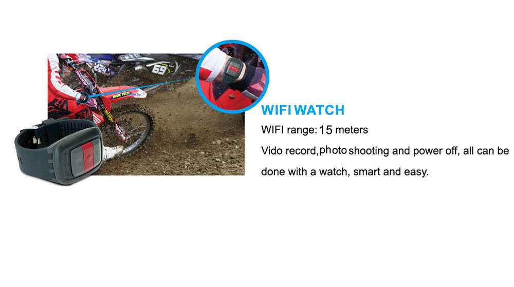 JTT S6 4K WiFi Action Camera 12MP 165 Degree FOV 2 inch TFT Screen Support Max 64G Micro SD Card