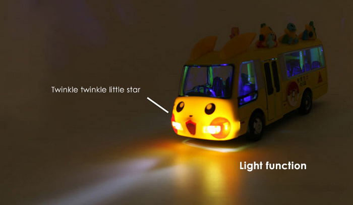 1 / 32 Alloy School Bus Model Pullback Vehicle Collection Toy with Music Light