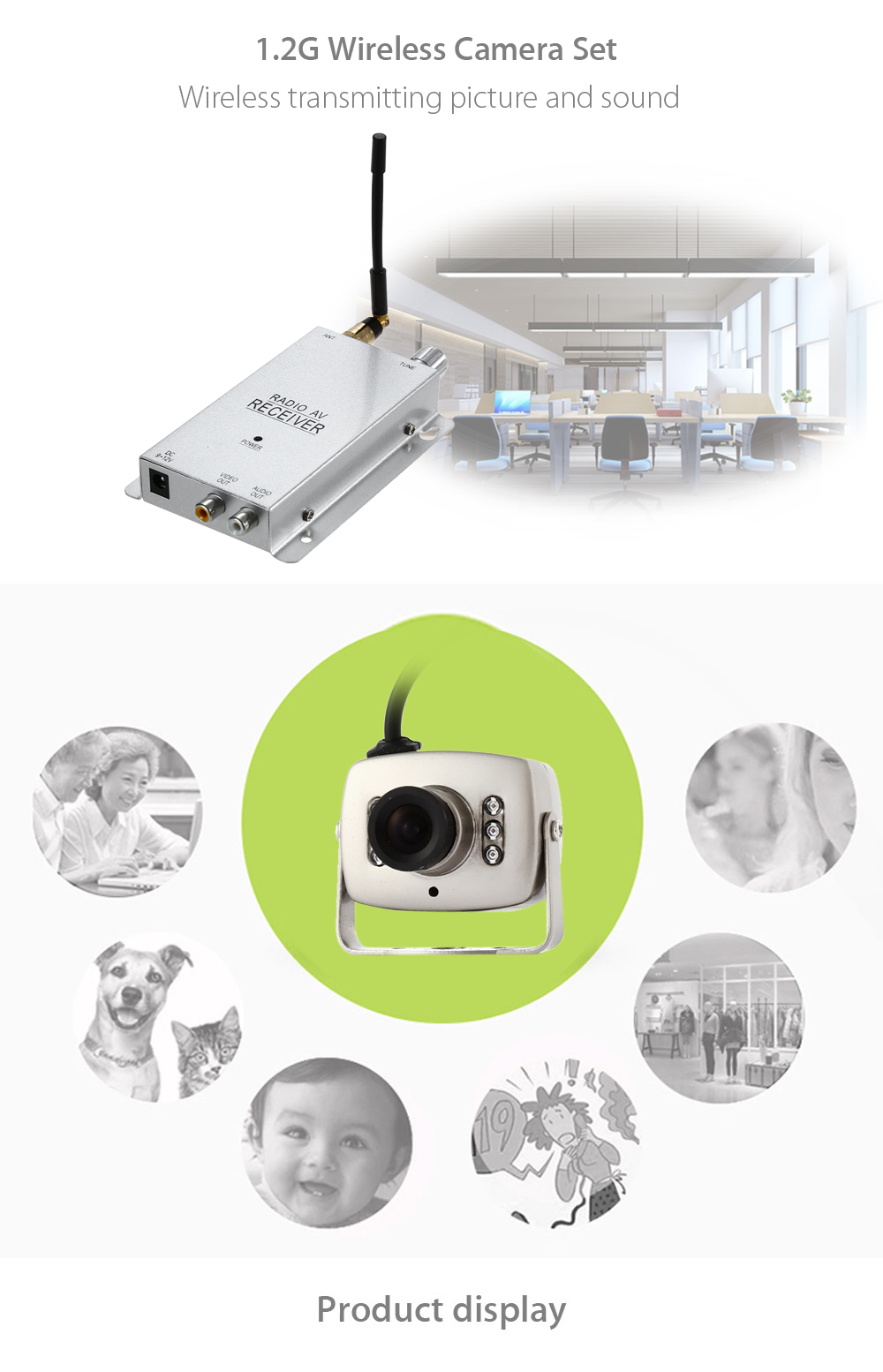 208C Wireless Camera Kit 1.2G with Night Vision