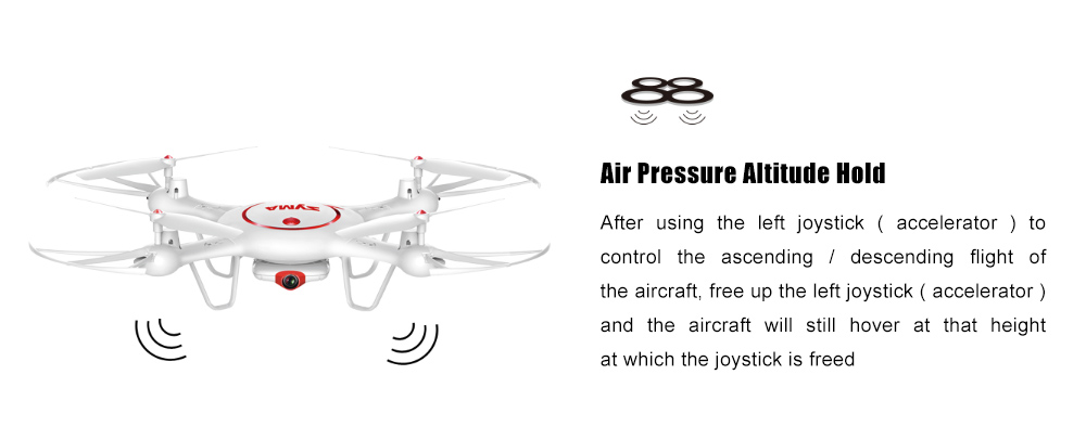 SYMA X5UC HD CAM 2.4G 4CH 6-axis-gyro RC Quadcopter Air Press Height Hold
