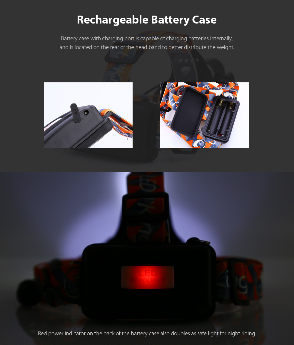 UKing ZQ - X851 2600Lm Cree XML T6 LED Headlamp + Batteries + Chargers