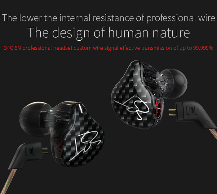 KZ ZST Dynamic HiFi Music In-ear Earphones Noise Canceling Super Bass with Mic Support Hands-free Calls
