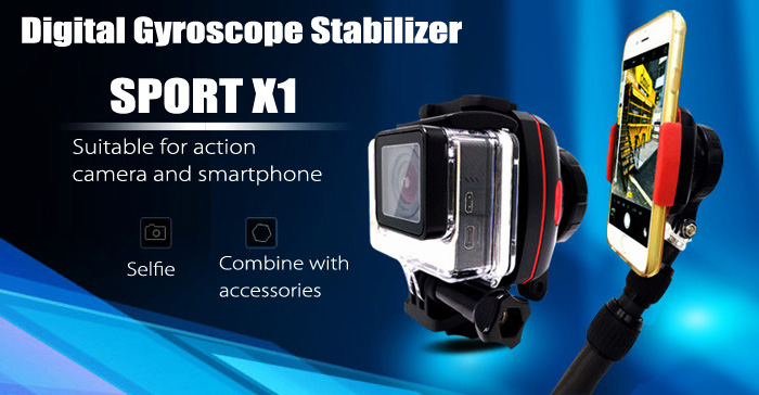 Wewow SPORT X1 Single-axis Smart Stabilizer for Action Camera