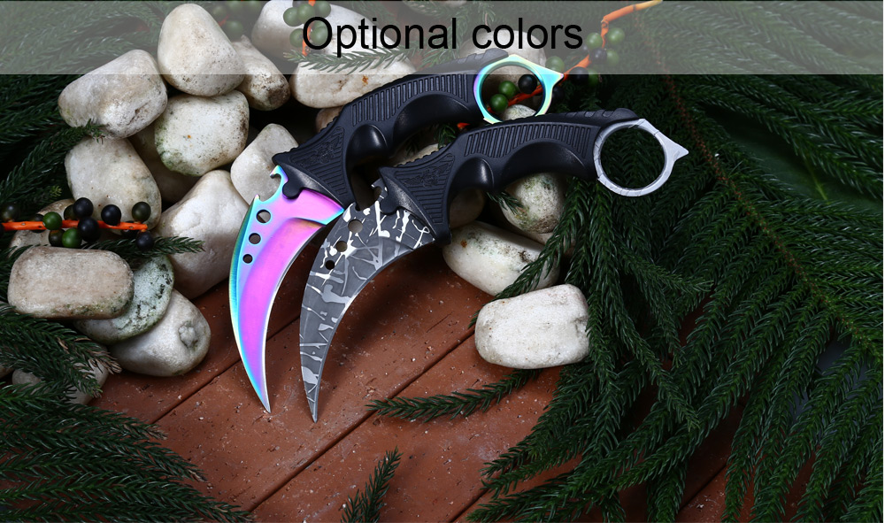 ( Upgrade ) CIMA Z6 440C Stainless Steel Fixed Blade Claw Knife with Bottle Opener