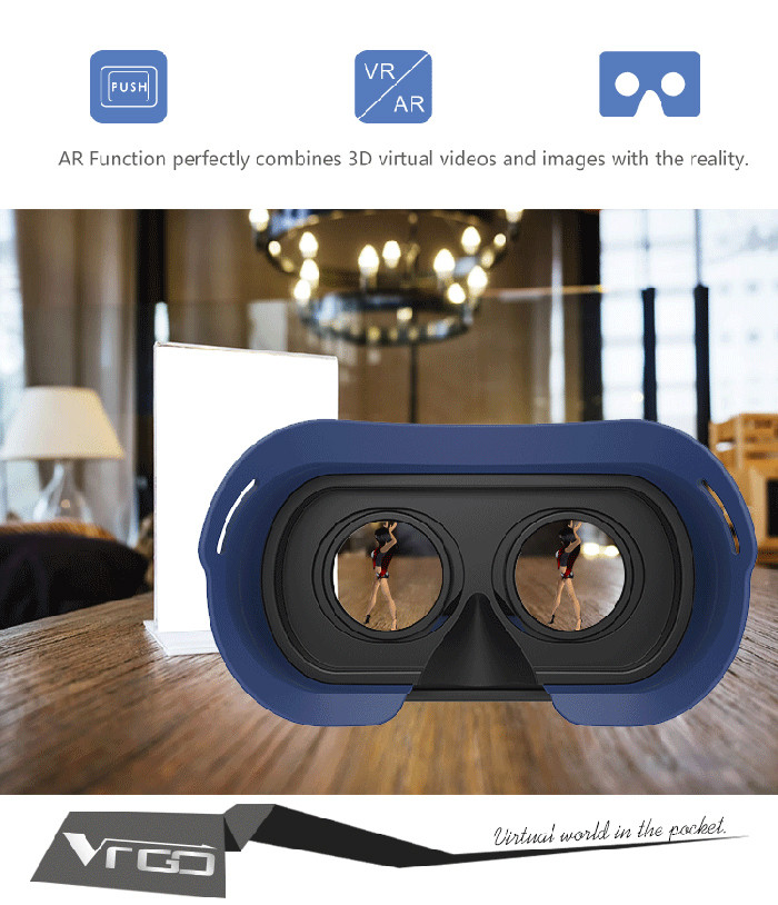 Ritech VR GO Virtual Reality 3D Glasses for 4.0 - 6.0 inch Smartphone 96 Degree FOV