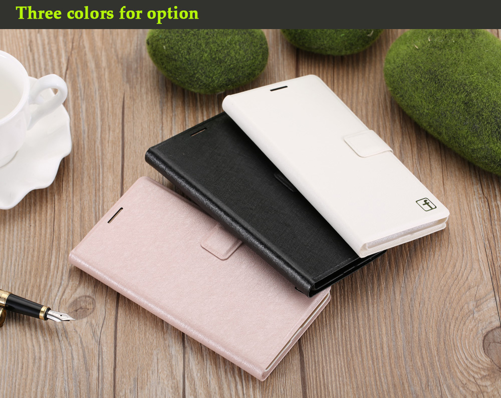 ASLING PU Leather Flip-open Style Full Body Protective Case for Xiaomi Redmi 3 Pro / 3S with Credit Card Slot Phone Stand Holder
