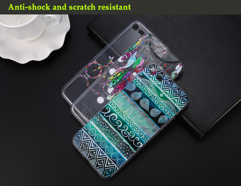 Creative Colored Drawing TPU Soft Protective Phone Back Case for iPhone 7 Ultra-thin Lightweight Mobile Shell