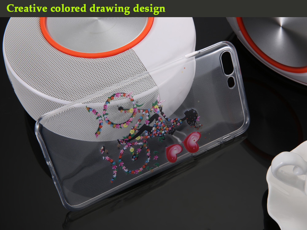 Creative Colored Drawing TPU Soft Protective Phone Back Case for iPhone 7 Plus Ultra-thin Lightweight Mobile Shell