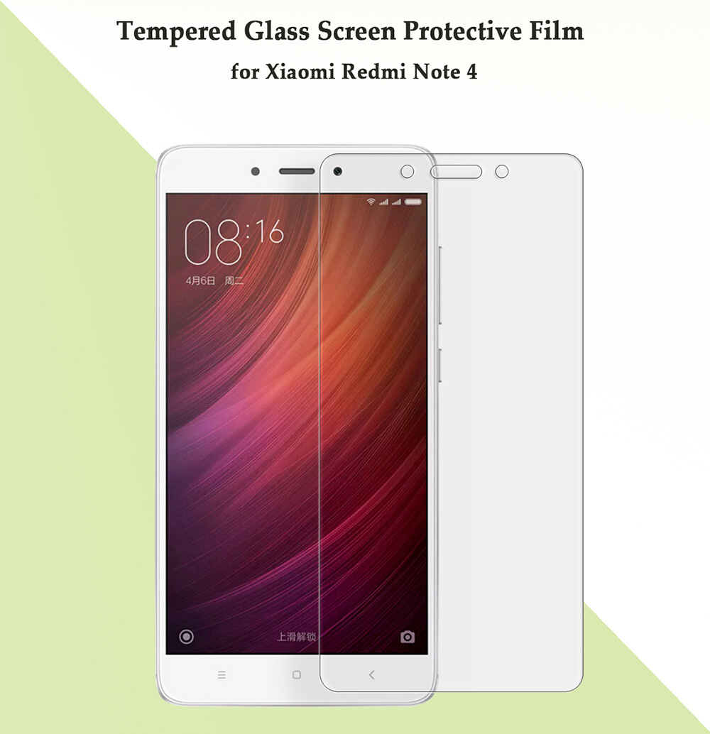 Tempered Glass Screen Protective Film for Xiaomi Redmi Note 4 0.26mm 2.5D 9H Explosion-proof Membrane