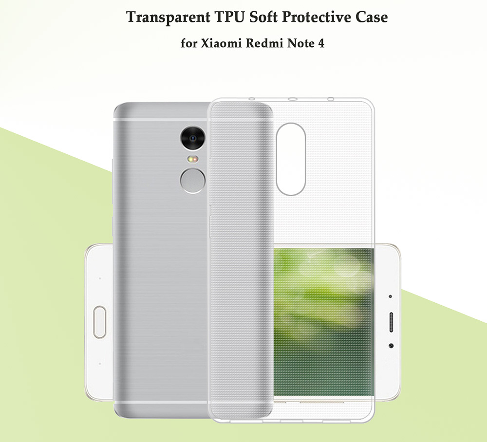 Transparent TPU Soft Protective Case for Xiaomi Redmi Note 4 Ultra Thin Phone Shell