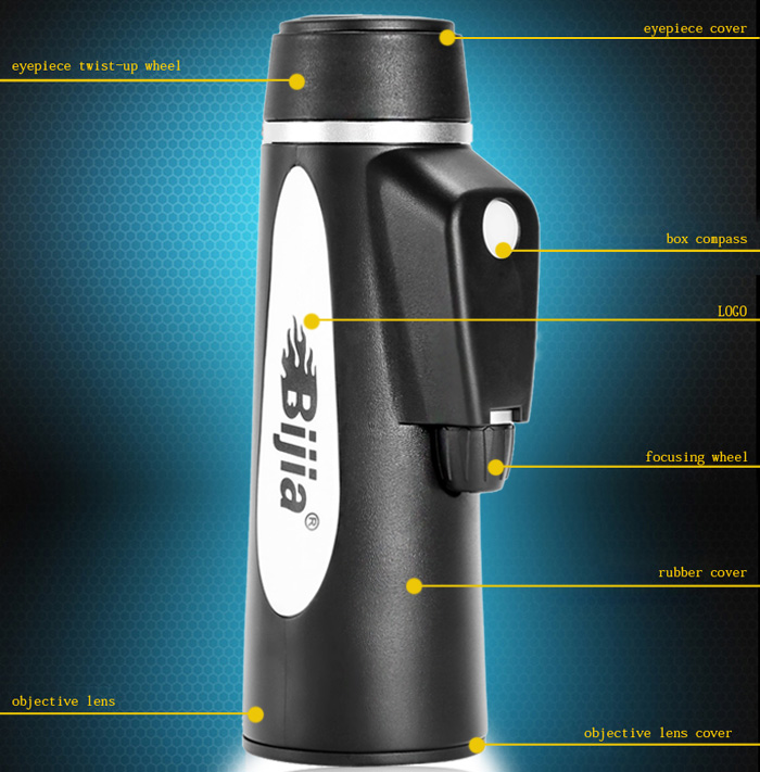 BIJIA BAK - 4 Prism 10 x 42 400FT / 1000YDS Field Range Monocular Fishing Hunting Outdoor Activities Supplies