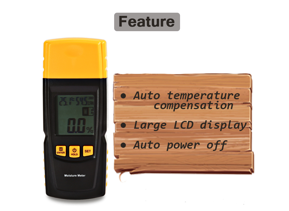 GM610 Wood Moisture Meter with LCD Reading Display