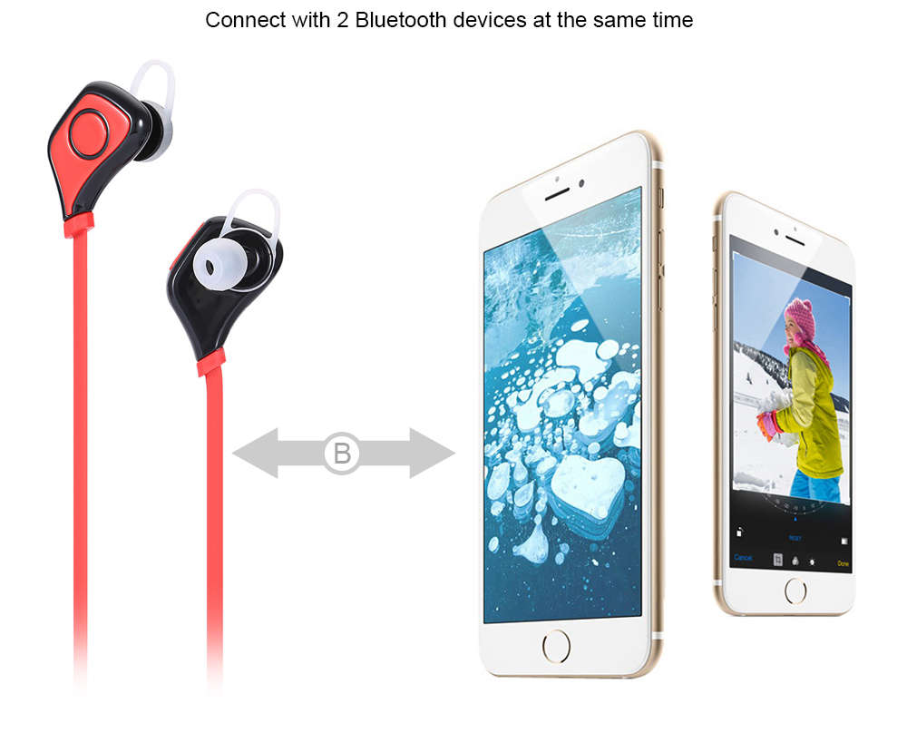 S5 Wireless Bluetooth 4.1 + EDR Music Sport Earbuds One Key Operation Multi-point Connection